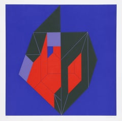 Composition in Green, Red, and Blue