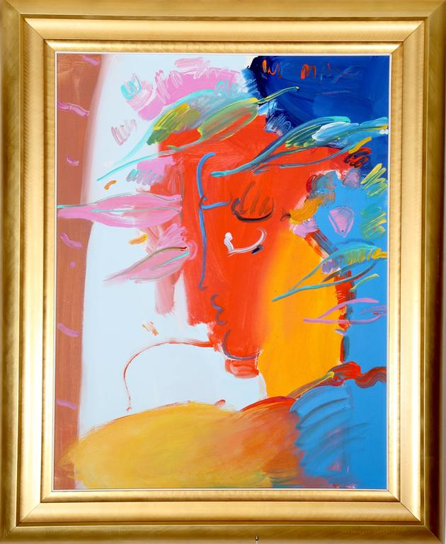 peter max profile painting for sale at 1stdibs. Black Bedroom Furniture Sets. Home Design Ideas
