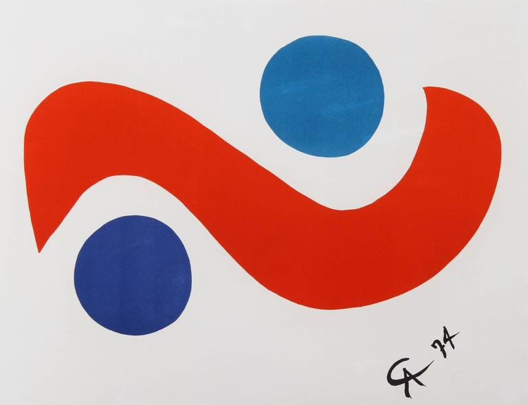 Alexander Calder Abstract Print - Flying Colors for Braniff Airlines