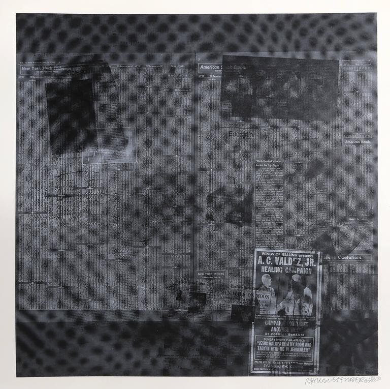 Robert Rauschenberg - Surface Series from Currents, #51 1