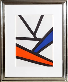 Intersections from Derriere le Miroir, Abstract Lithograph by Alexander Calder