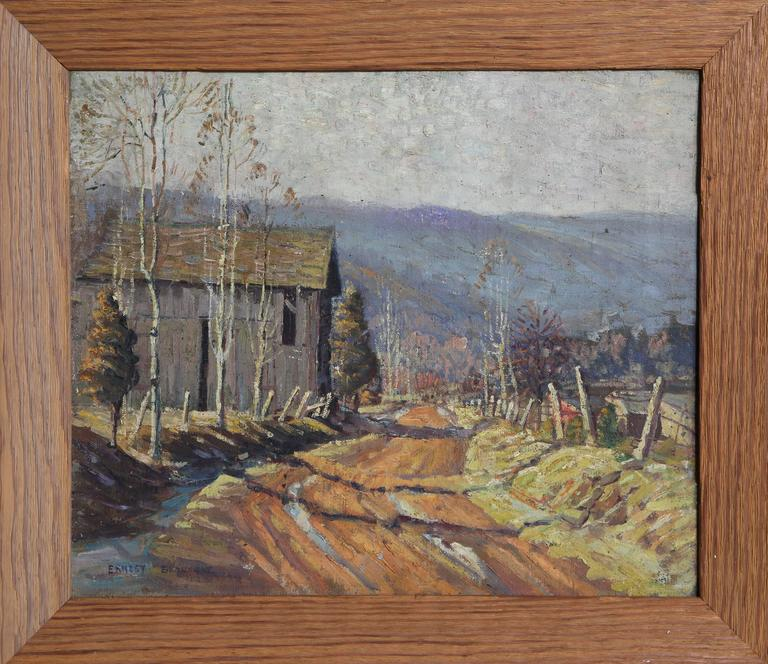 Ernest Beaumont Landscape Painting - Early Spring