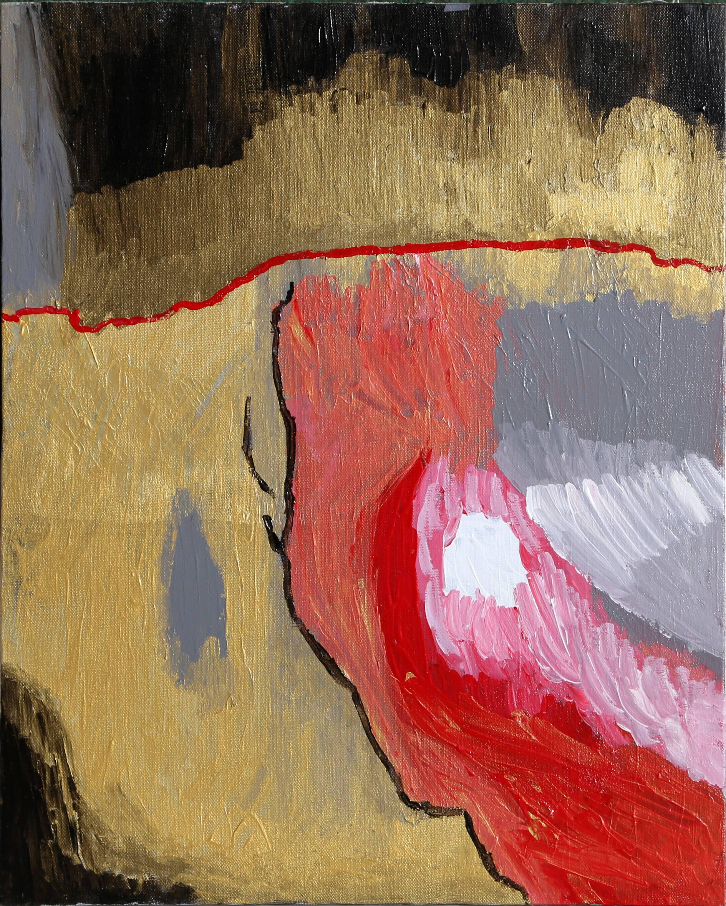 Abstract Expressionist painting by Raymond Parker