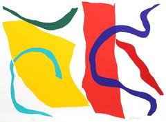 Colorful Abstract Silkscreen by Ray Parker