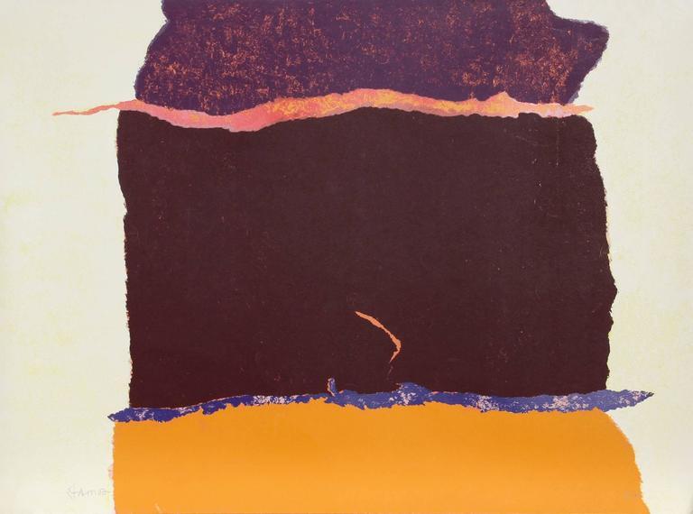 Theodoros Stamos Abstract Print - Untitled - VI