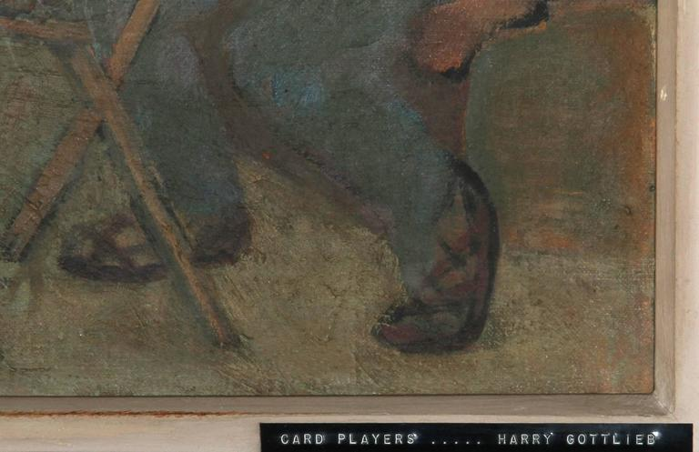 Card Players - Painting by Harry Gottlieb