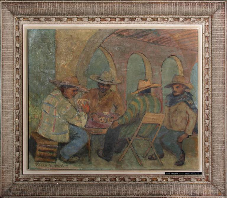 Harry Gottlieb Figurative Painting - Card Players