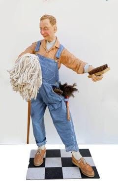 The Janitor, Free Standing Indoor Sculpture