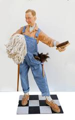 The Janitor, Free Standing Indoor Sculpture