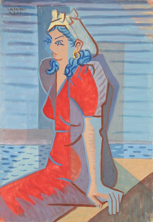 Portrait of a Woman in Red