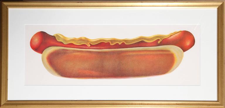 arthur boden hot dog print for sale at 1stdibs. Black Bedroom Furniture Sets. Home Design Ideas