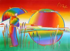 Rainbow Umbrella Man in Reeds Version IV #7