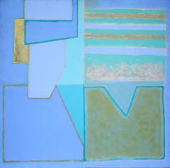 Abstract Composition in Blue