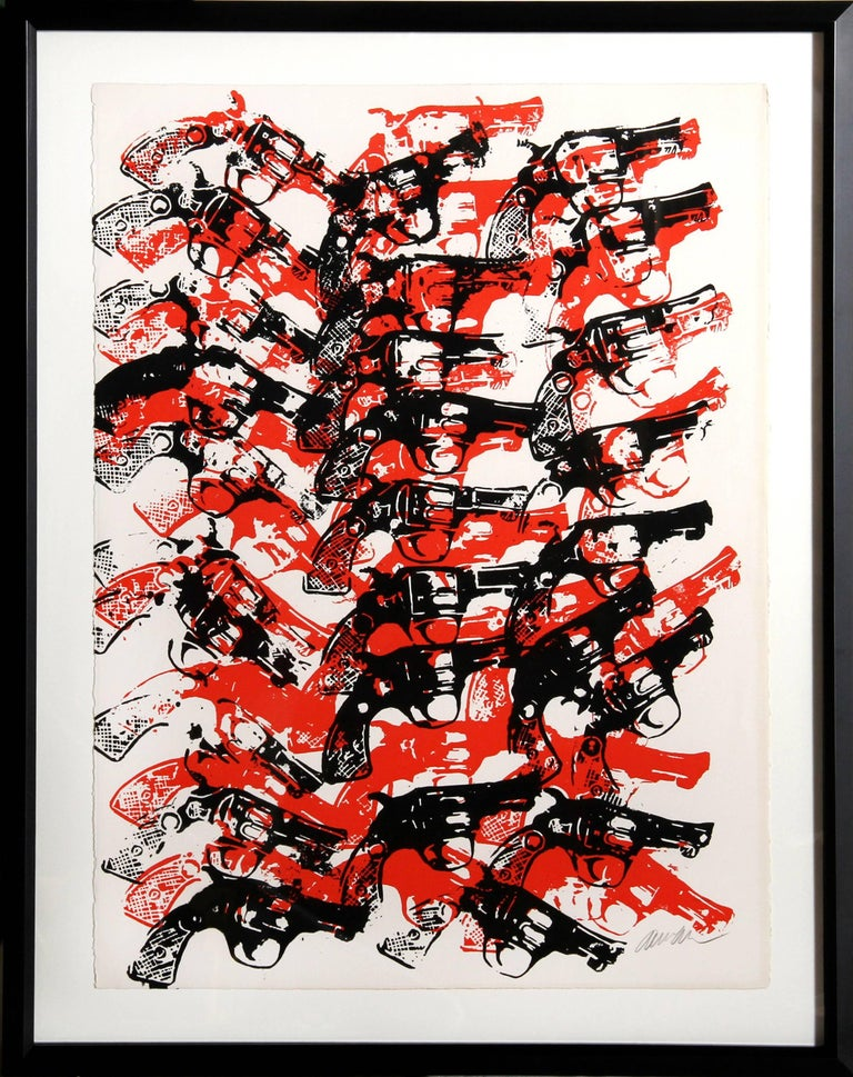 Arman Figurative Print - Bloody Guns
