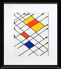 Damier, Abstract Lithograph by Alexander Calder