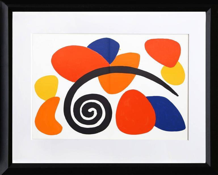 Alexander calder abstract ii from derriere le miroir for Calder derriere le miroir