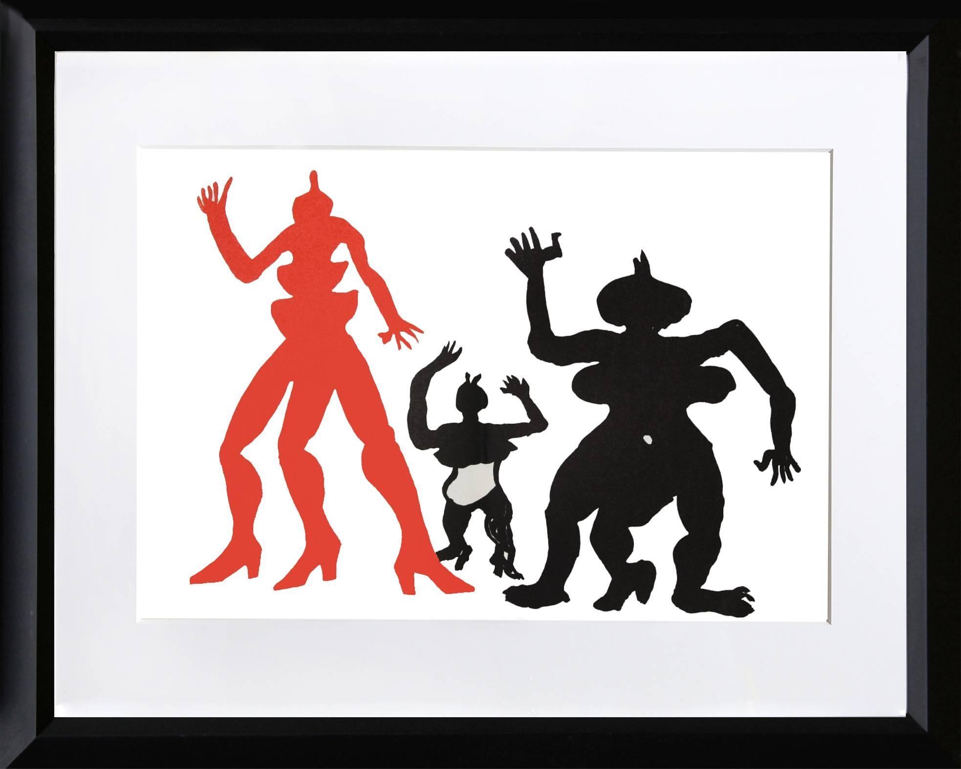 Three Acrobats, Lithograph by Alexander Calder