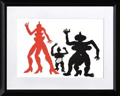 Three Acrobats, Lithograph by Alexander Calder