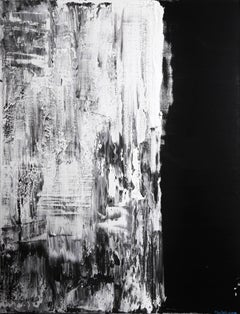 Untitled, Black and White Abstract Painting by Shatokhina