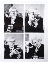Andy Warhol in his office on Union Square, NYC