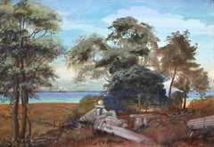Landscape with Ruins, Large Painting by Poutchkov