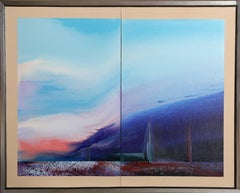 Blue Sailing Diptych