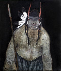 Crow Indian with Spear