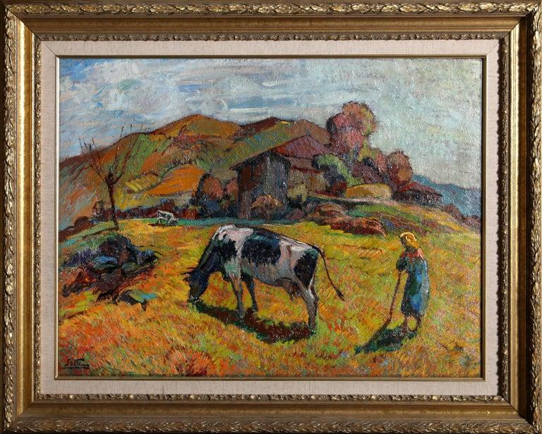 Artist: Ugo Setti, Italian (1915 - ) Title: In Valdumentina Year: circa 1960 Medium: Oil on Canvas, signed l.l. Size: 23.5 x 31.5 inches Frame Size: 32 x 40 inches