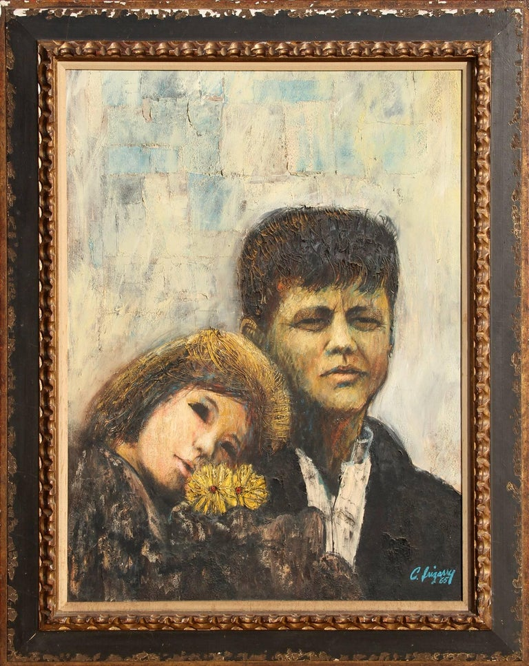 Carlos Irizarry Portrait Painting - John and Caroline Kennedy