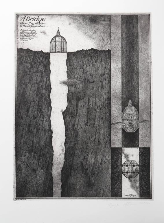 Alexander Brodsky and Ilya Utkin Figurative Print - A Bridge from Brodsky and Utkin: Projects 1981 - 1990