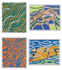The Aquarius Suite of Four Silkscreens by Stanley Hayter