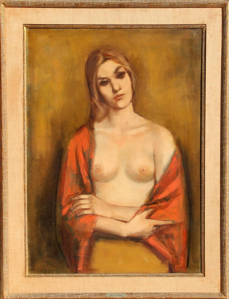 Jan De Ruth Nude Painting - Crossed Arms (Portrait of a Blond)