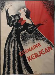Germaine Kerjean, Lithograph Poster 1934