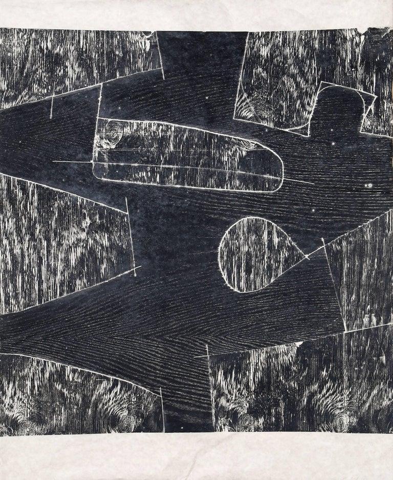 Mel Kendrick Abstract Print - Untitled