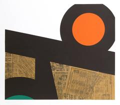 Body Language, Silkscreen and Collage by Ray Elman