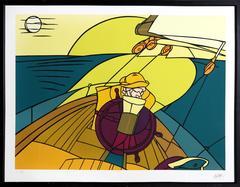 """Valerio Adami, """"Sailor,"""" Serigraph, circa 1980"""