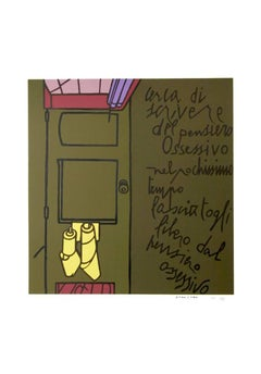 "Valerio Adami, ""Oltiero Oltieri,"" Serigraph, circa 1975"