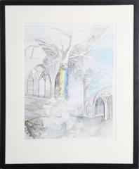 "Anton Krajnc, ""Iris,"" Lithograph, 1980"