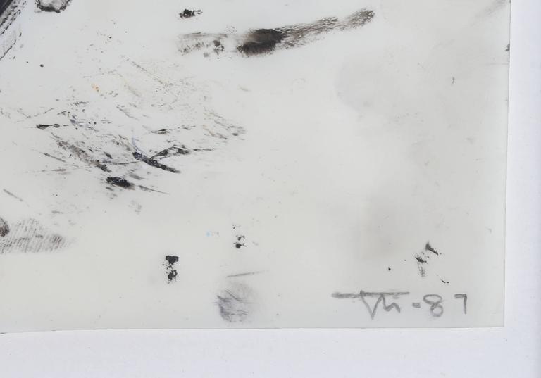 John Millei, Mixed Media on Synthetic Vellum, 1987 - Contemporary Mixed Media Art by John Millei