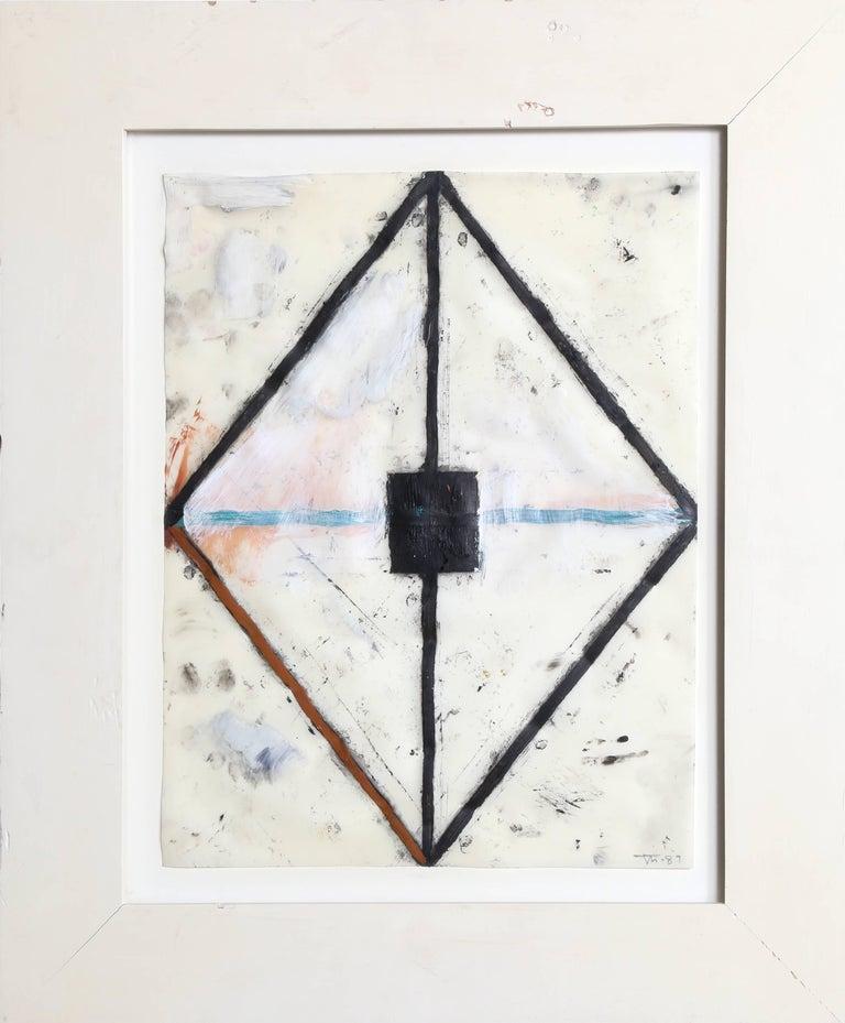 John Millei, Mixed Media on Synthetic Vellum, 1987 - Mixed Media Art by John Millei