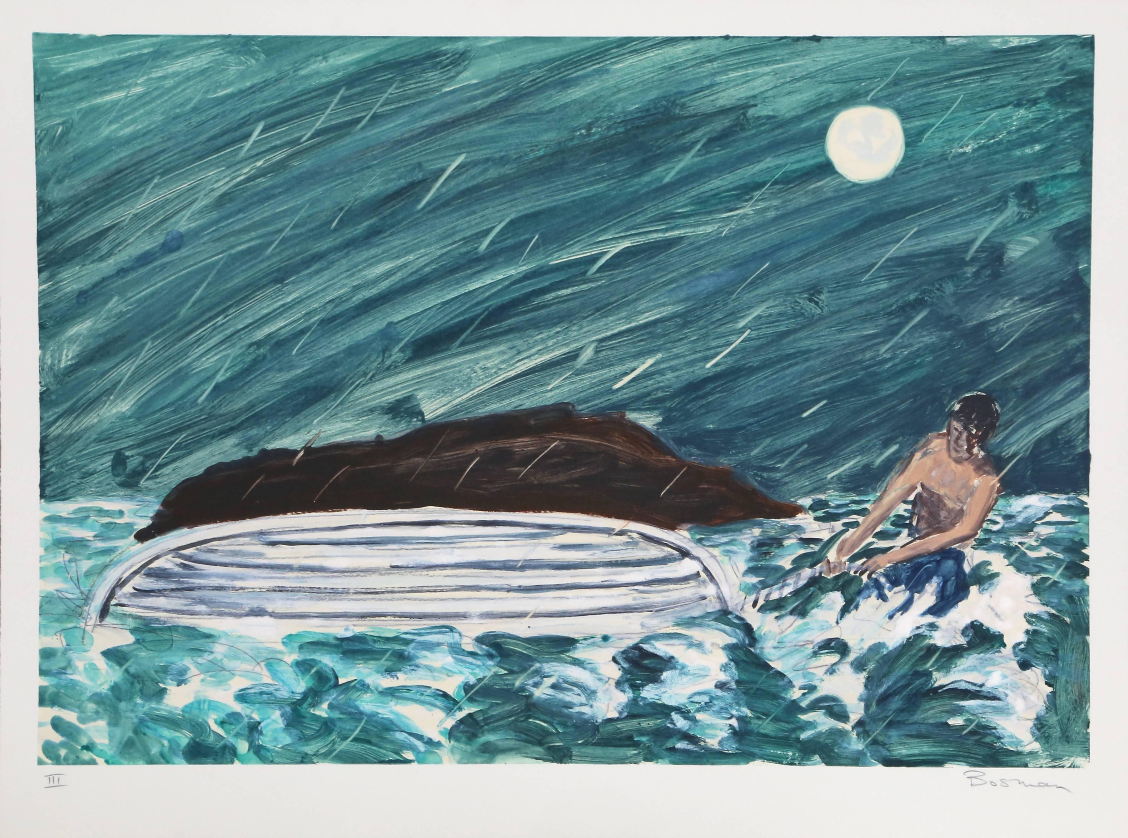 """Richard Bosman, """"III (Capsized),"""" Monotype, 1988"""