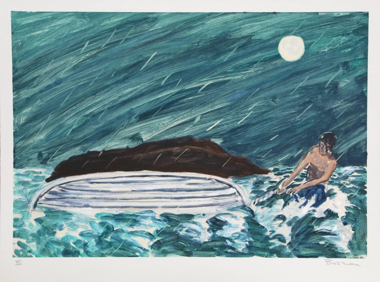 "Richard Bosman, ""III (Capsized),"" Monotype, 1988 - Print by Richard Bosman"