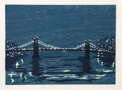 "Richard Bosman, ""Bridges 1,"" Woodcut on Wove Paper, 1997"