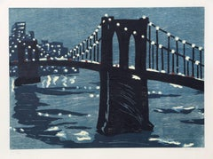 Bridges IV (Brooklyn Bridge), Woodcut on Wove Paper, 1997