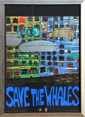 "Friedensreich Hundertwasser, ""Save the Whales,"" Serigraph with Foil, 1982"