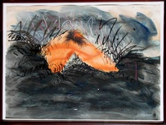 "Jody Pinto, ""Orange Leg Landscape,"" Mixed Media Drawing, 1979"