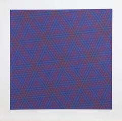 "Josef Levi, ""Purple,"" Screenprint, 1970"
