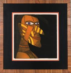 "Sergio Gonzalez-Tornero, ""Chief Yellow Jacket,"" Etching, 1979"