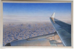 "Mickey Frome, ""Westbound Across the Early Morning Sky,"" Oil on Canvas, 2003"