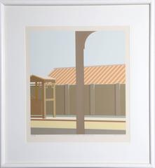 "Saul Chase, ""10:00 AM (Elevated Entrance-Upper Broadway)"", Screenprint, 1980"